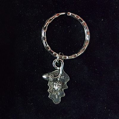 Acorn and Oak Leaf Keyring with box.