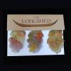 Fabric hand made oak leaves in a Longshed gift box.