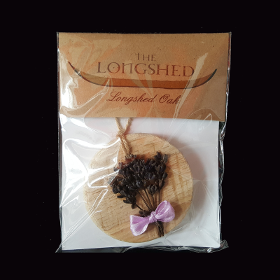 Longshed Oak Lavender Plaque with packaging