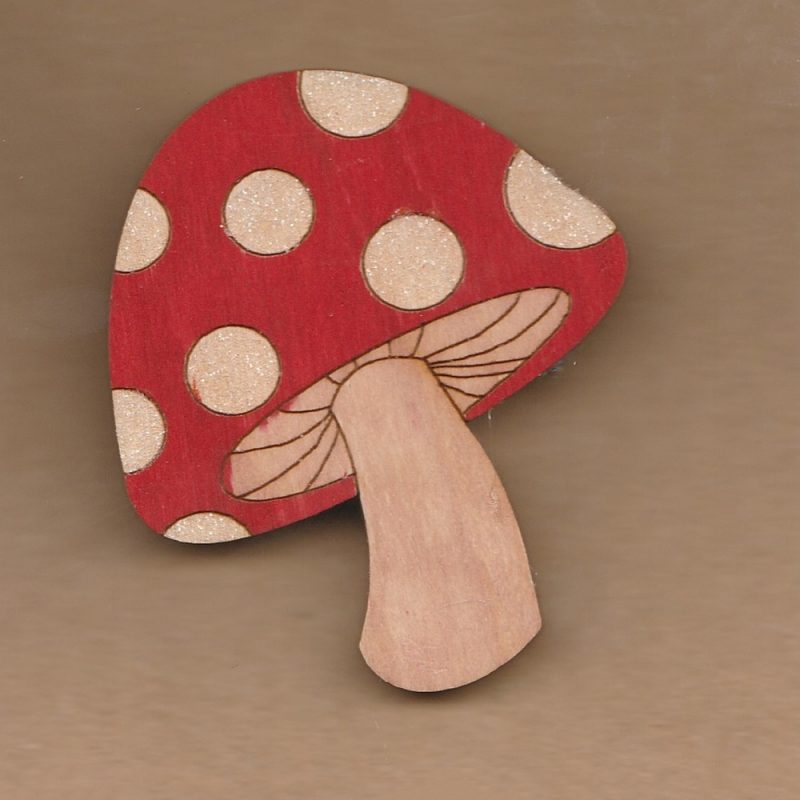 Sparkly Toadstool Brooch