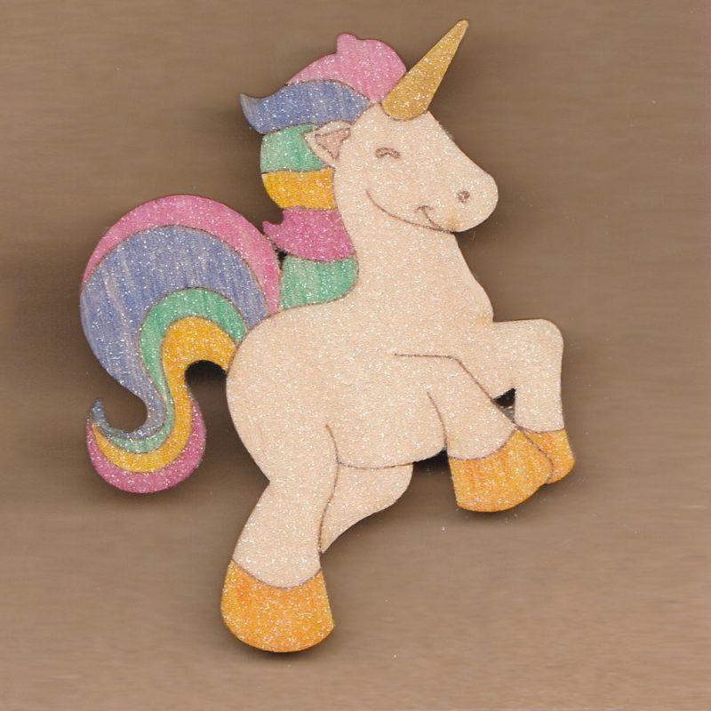 Glittery Unicorn Brooch